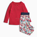 2017 winter girls basis tops and printed pants set