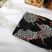 sequin embroidery cloth;3mm 3mm +3mm gold embroidery cloth;Polyester fiber;dress, home textile toys crafts use
