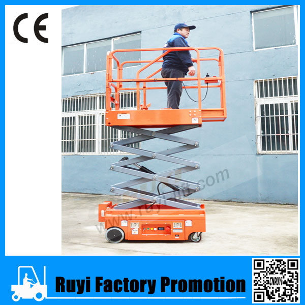 Electric lift table operate convenient mobile electric scissor lift aerial work platform