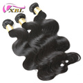 XBL 8A grade raw virgin cuticle aligned human hair extension body hair