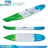 Single Boat Cheap Plastic Sit-on-top Canoe Kayak with Paddle