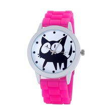 Hot sale design your own watch quartz cheap silicone watch for lady