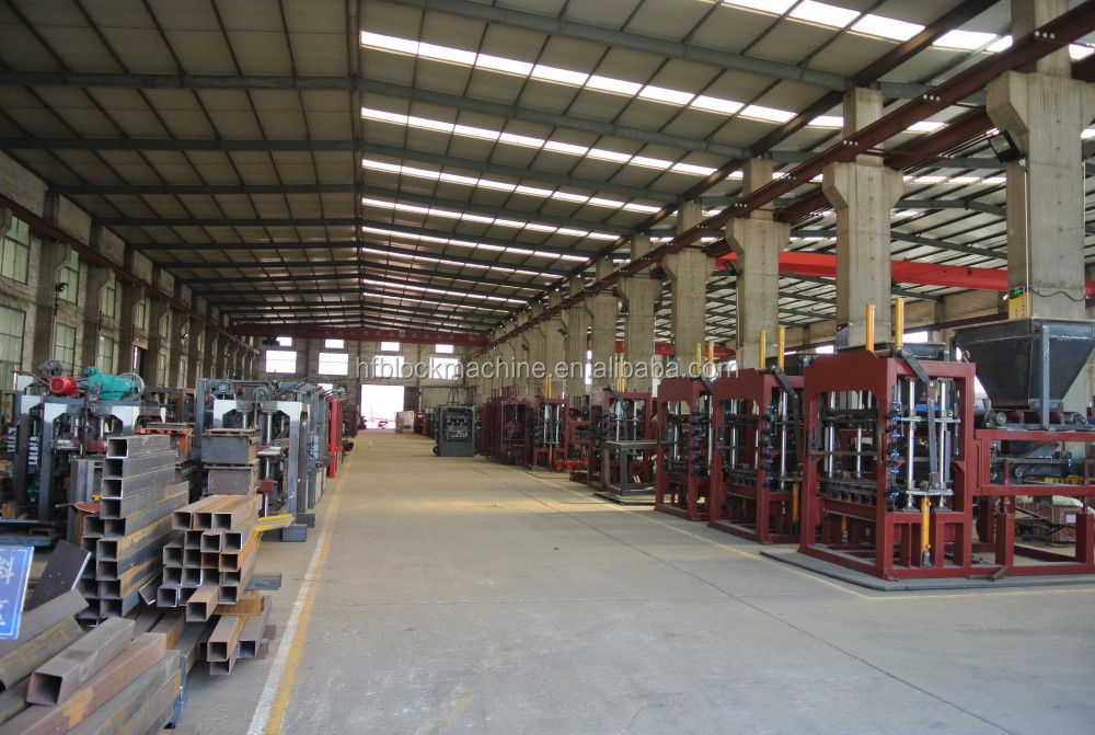 concrete brick production line Full automatic hydraulic hollow block making machine cement block making