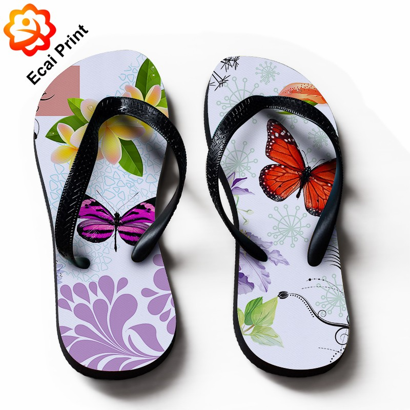 2016 hot sale customize lady flip flop sandals with pattern