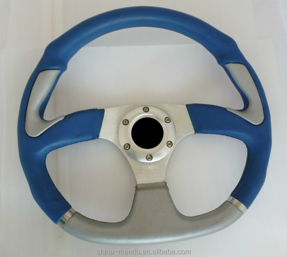 trapezoidal aluminum universal car steering wheel with neo chrome decorative material