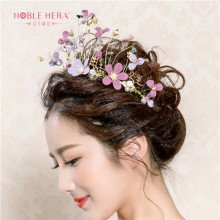 The Newest Designs Colorful Flower Bridal Wedding Tiara With Pearl