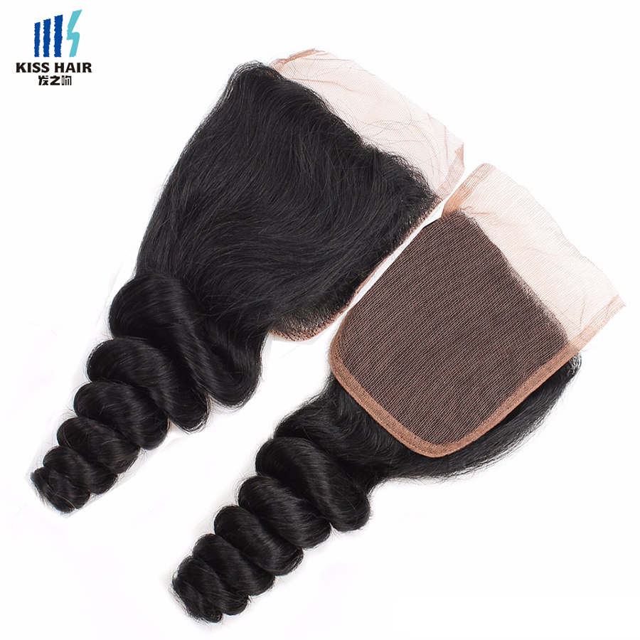 Good Quality Factory Pruvian Virgin Human Hair Lace Closure Deep Wave,Straight,Body ,Curly,Loose Wave Dropshipping