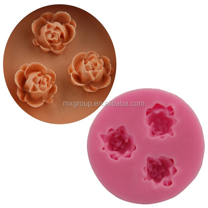 FDA LFGB high quality custom brand baking tool cake mould silicone rose fondant mold