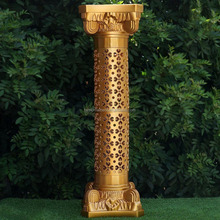 "41"" tall Gold Decorative Roman Empire Wedding Columns"