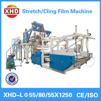 high speed three layer casting stretch film extruder pe stretch film production line