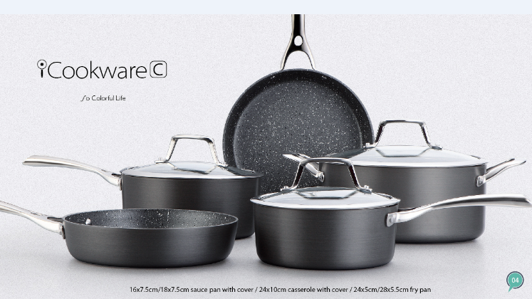 New Design Popular Hard Anodized Marble Coating Cookware Sets