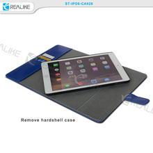 2016 wholesale for apple ipad 6 leather case with stylus holder