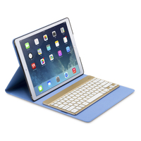 F16s+ Detachable Wireless Bluetooth Keyboard Leather Case Cover for iPad Pro 12.9 inch