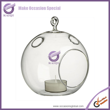 ZT42660 Wholesale Cheap Hanging Votive Clear Glass Ball Round/Globe candle holder
