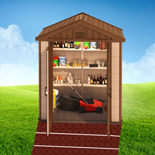 High quality plastic garden tool shed for easy storage