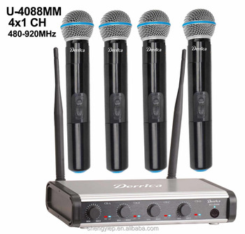4 channels UHF wireless microphone U-4088