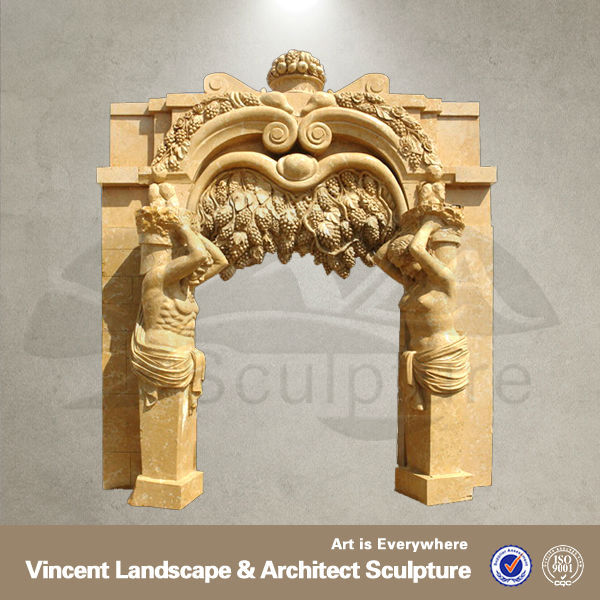 hand carved marble fireplace surround VFM-NA044R