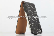 up to down diamond flip case for apple iphone 4 phone