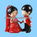 Red Chinese traditional wedding display unique cake topper