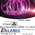 Multiple strand Side Optical Fiber Glow Lighting for Garden or Pool Decorations