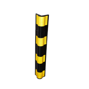 circle corner protector rubber wall Guard with yellow reflector