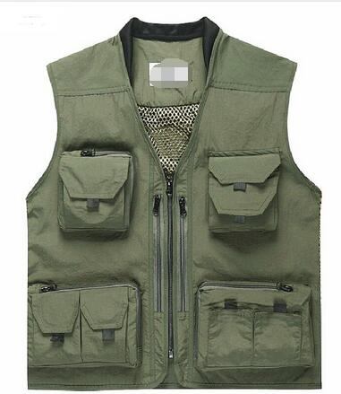 Quick-Drying Fly Fishing Vest Sleeveless Jackets Coats Outdoor Camping Clothes Photography Vest