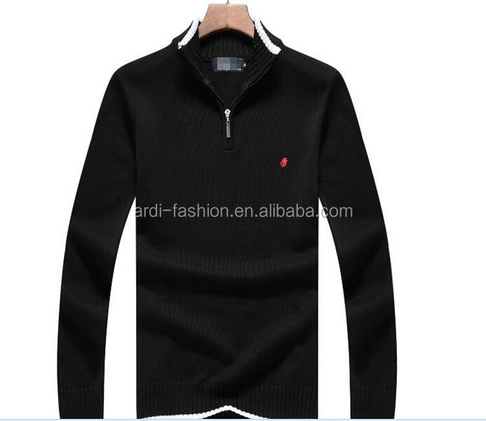 mens handmade 100% cotton turtleneck 1 4 zip quarter zip pullover