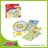 Top sale educational toys play funny learning turntable bingo game machine