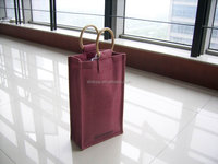 custom wholesale fancy 2 bottle wine tote gift bag