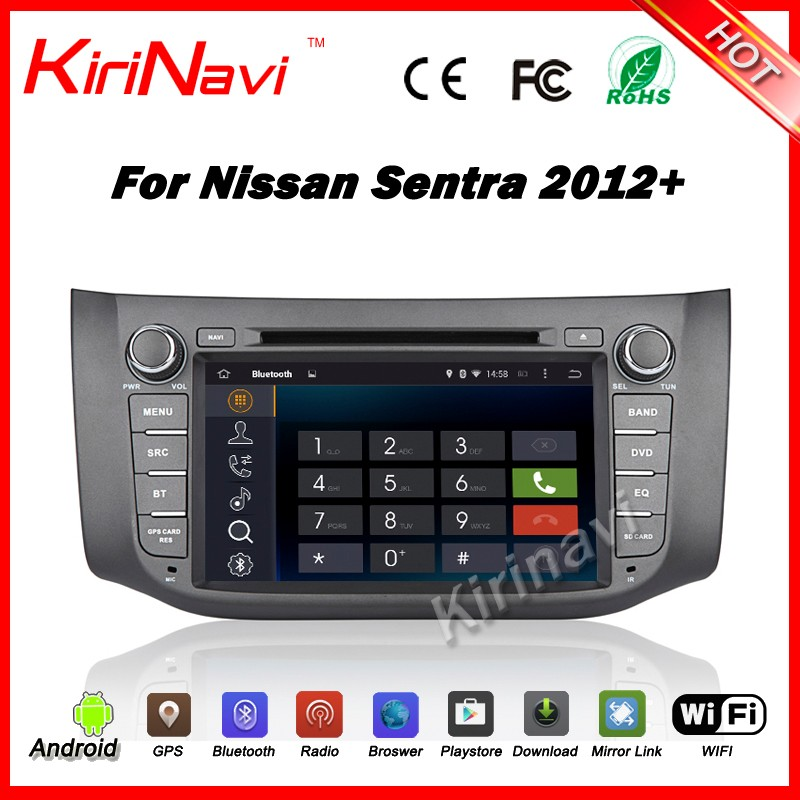 Kirinavi WC-NU8053 android 5.1 car radio gps for nissan sylphy 2012 2013 2014 + car dvd player multimedia system BT WIFI 3G