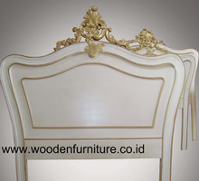 Antique Headboard French Style Bed Head Rococo Bedroom Furniture European Style Home Furniture