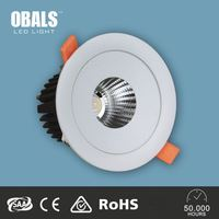 Top Quality Adjustable ce&rohs&saa Cob led recessed ceiling downlight 10w