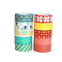 DIY printed japanese washi paper decoration tape for gift and package