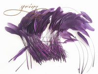 Purple stripped coque feather,fascinator hat millinery feathers,feather decoration in size 6-8''