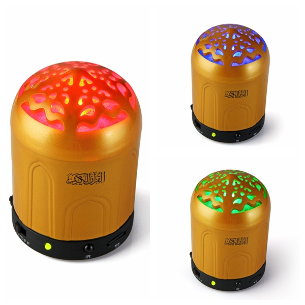 2015 new electronic product muslim religious items quran with dari translation rainbow light speaker