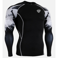 Men's full Sublimation Custom Printed Rash Guard