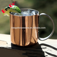 18/8 stainless steel copper moscow mule mug