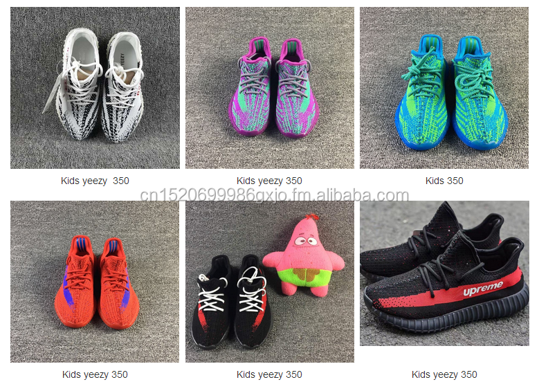 high quality flyknit fabric yeezy kids shoes children boots