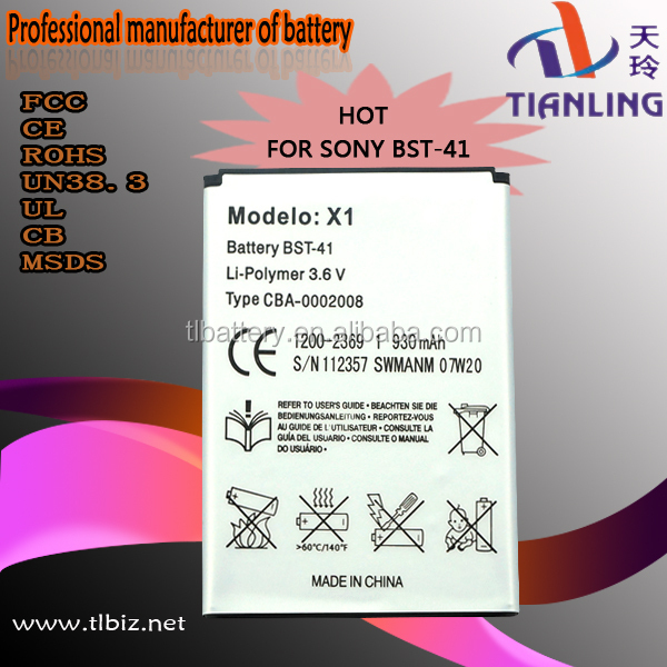 Oem 100% New Battery Bst-41 For Sony Ericsson Mobile Phone
