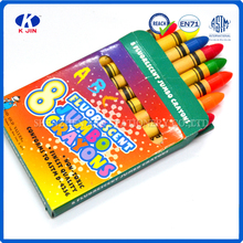 2016 8pcs fluorescence multi color wax crayons for drawing