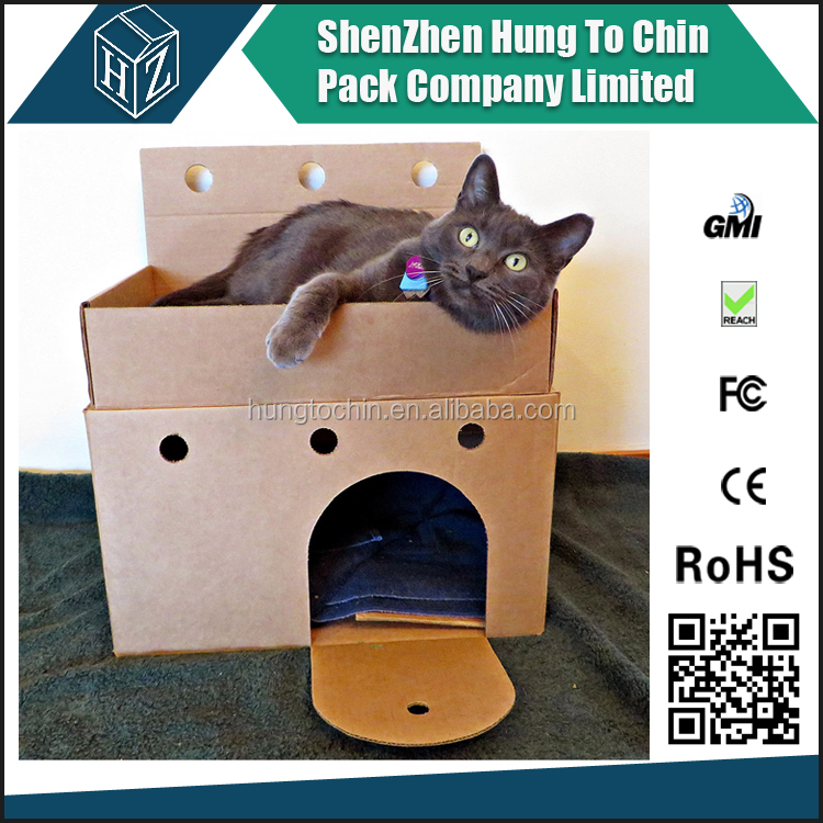 High quality Kraft cardboard pet carriers wholesale