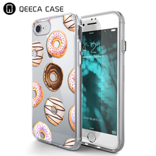 Design customised cartoon donuts drawing clear case for iPhone 5 5S 6 6S 7 Plus case
