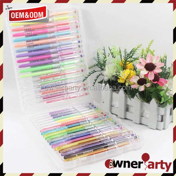 Promotional 48 Multi Rainbow Color Gel Ink Pen Set For Office & School
