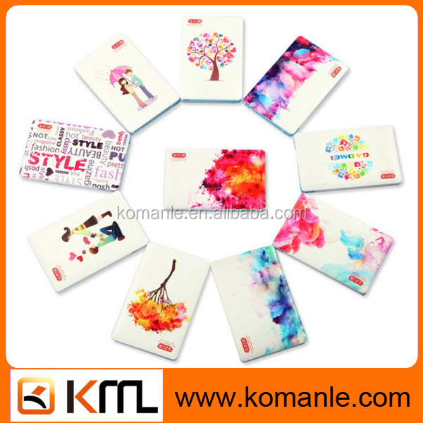 AWC163 8mm Slim Square Card 2600mah Mobile Custom China Power Bank credit card size power bank
