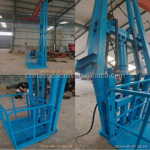 home warehouse electric hydraulic lift table small vertical platform