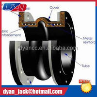 Carbon steel flange Eccentric reducing pvc pipe fittings with rubber joint Oil resistant