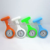2013 New hot silicone nurse watch silicone rubber nurse watches on sale!! Latest silicone nurse watch with pin&S.steel back!!