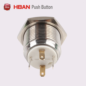 Ul certified electric power switch illuminated 12mm 14mm 16mm on off push button latching momentary 5V 110V led touch switch