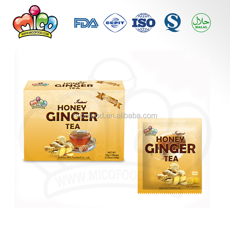 Original flavor honey crystals drink ginger tea