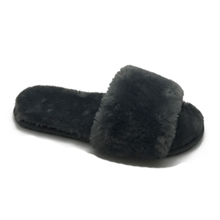 Fuzzy furry warm faux fur sandals slippers